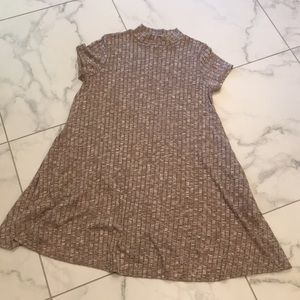 Taupe/ Brown Block Pattered Dress